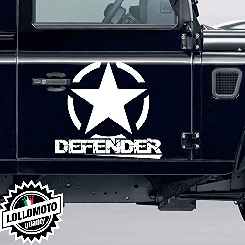 2x Stella Fuoristrada Defender Land Rover Adesive Off Road Fiancate