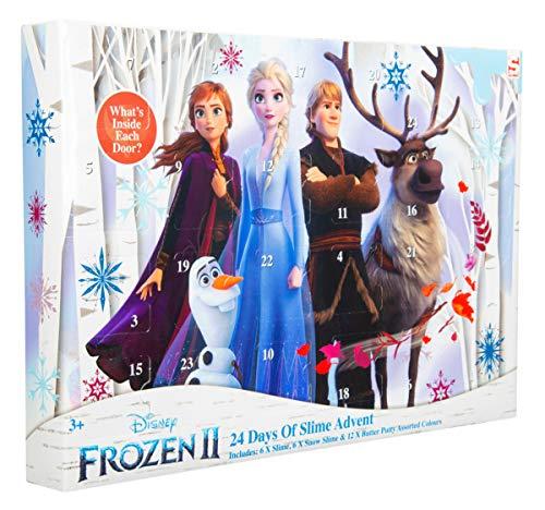 Sambro DFR2-3643 Calendario dell'Avvento Slime Disney Frozen 2, Schnee Schleim und Butter Nette, per Bambini dai 3 Anni, colorato