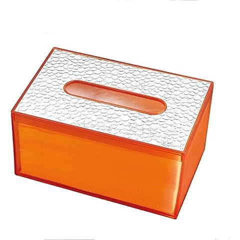 Salotto Creativo Europeo semplice moda Cute plastica pompaggio scatola casa Tissue Holder Box Orange