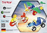 Tronico Metallbaukasten, 3 Modelle, 3-in-1, Flugzeuge, Auto, Motorrad, 170 Teile, bunte Teile, 4-farbige Aufbauanleitung, inklusive Werkzeug, ab 8 Jahren, Starter Set, Multibaukasten, rcee