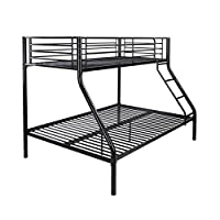Leijona 90x140 cm Twin Bunk Bed Black