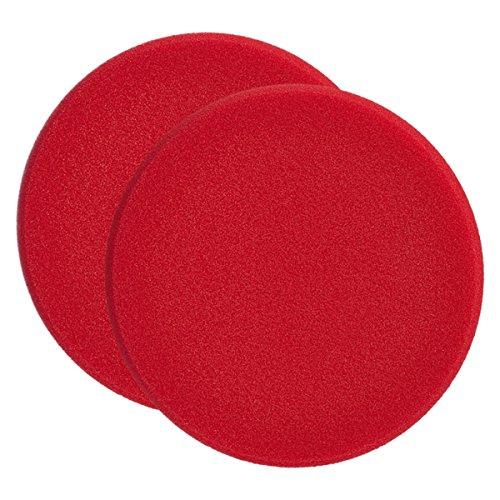 2x SONAX 04931000 PolierSchwamm rot 160 (hart) SchleifPad 1 Stück