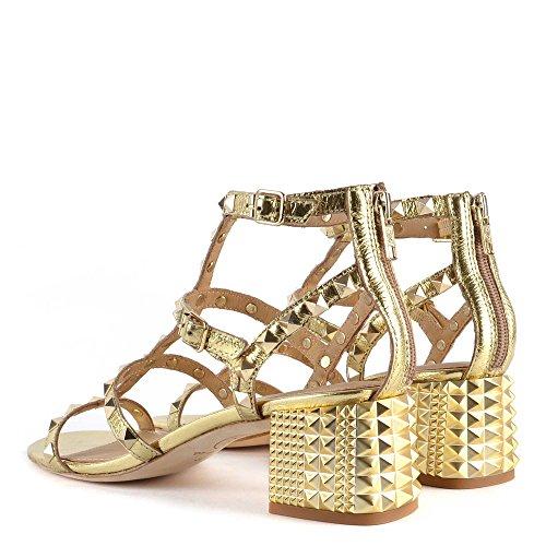 Ash Footwear Chaussures Rolls Sandales en Or Femme Doré