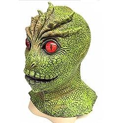 The Rubber Plantation TM 619219292344 V The Visitors Mask Alien Martian Monster Reptile Lizard Man Halloween Disfraz Disfraz Comic con Display, Unisex Adulto, Talla Única