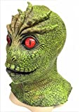 The Rubber Plantation TM 619219292344 V The Visitors Mask Alien Martian Monster Reptile Lizard Man Halloween Disfraz Disfraz Comic con Display, Unisex Adulto, Talla Única