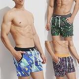 QinMM Männer Breathable Badeanzug Badehose Hosen Bademode Shorts Slim Wear Bikini (Asian Size:L, Grün)