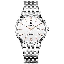 STARKING Men's BM0976SS11 Simple Stylish Silve-Tone Quartz Watch with Stainless Steel Bracelet