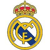 Real Madrid CF escudo del club de fútbol póster de arte de la pared de adhesivo de pared autoadhesivo Tamaño 600mm de ancho x 600mm de profundidad (Tamaño Mediano)