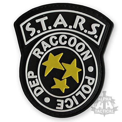kingnew Resident Evil s.t.a.r.s Negro Tactical Military bordado parches adornos para ropa ropa Hook//Loop