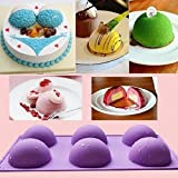 JoyGlobal Silicone 6-Cavity Half Circle Baking Soap Mould, 7cm, Multicolour, 90g