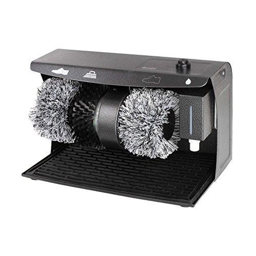 DomoClip Profi Schuhputzmaschine Schuhputzautomat mit 3 Bürsten und Schuhcreme Spender (Elektrischer Schuhpolierer, Schuhputzer, Schuhpoliermaschine)