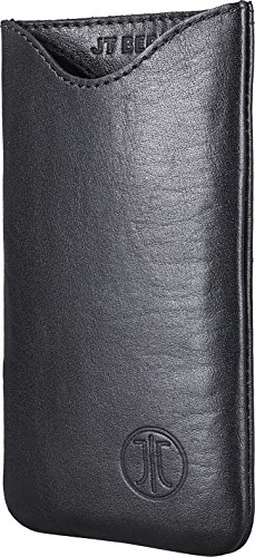 JT Berlin SlimCase Leather für Apple iPhone X, Samsung Galaxy S6 / S5 (neo) / A5 (2017), Lumia 640, uvm. - 2XL [Echtleder I Handarbeit I SlimFit Design] - 10007