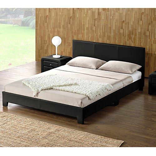 DI-LIFESTYLE Ohios Doppelbett Schwarz Oder Weiß Polsterbett Bett Lattenrost Kunstleder