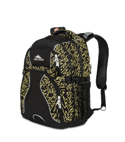 High Sierra 2230-cubic Zoll Swerve Tagesrucksack (gelb, schwarz) (Rucksack High Daypack Sierra Swerve)