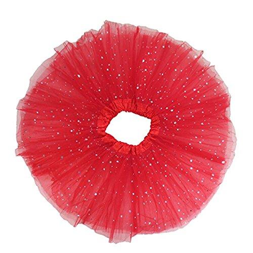 OULII Tutu Kleid Rock Mädchen Tutu Glitter Ballett weichem Tüll-Rock (Tutu Up Kostüme Dress)