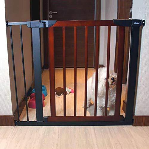 Haustier Katze Hund Zaun Türstange, Kinder Baby Schutztüren Hohe Verschlüsselung Sicherheit Tür Druck Fit Isolation Tür, Höhe 74,5 Cm (größe : 110-117cm)