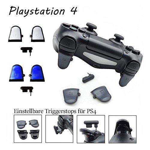 PS4 Controller Triggerstops Einstellbar mit Grip / 3tlg.
