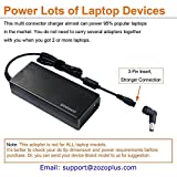 POWSEED Universal 90W Laptop AC Power Adapter Charger with Multi Connectors for Notebook Ultrabook Acer Toshiba Dell Lenovo/IBM Samsung Sony Gateway HP Fujitsu and More Brand Automatic Voltage 15V-20V