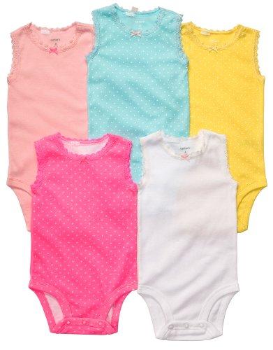 Carters Baumwolle Bodys (Carter's Bekleidungsset 50/56 Baby Sommer Body 5 teilig Schlafanzug Unterwäsche newborn)