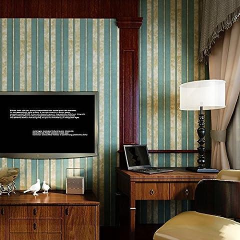 XAH@ Consola cabecera del dormitorio de la lujo flor grande papel pintado no tejido American Vintage papel pintado de rayas verticales de pared TV , stripes