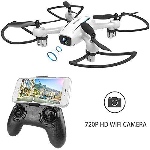 WINGLESCOUT Drone con Telecamera H816HW Mini Quadricottero Fotocamera Reale HD 720P FPV[App Supporto] Grandangolare 120°Rotazione a 3D per Bambini -Versione Aggiornata
