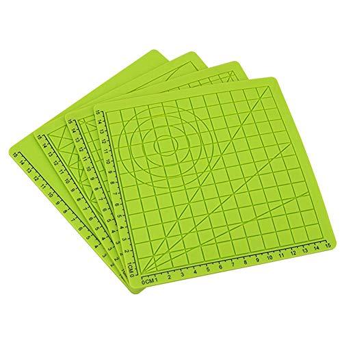 Geometrische Drucken (Szyzl88 Silikon-Matte 4 Teile/Set Kunst Stift Zeichnung Geometrisch 3D Drucken Pen Mehrförmiger Basteln Finger Kappen Geschenk Basis Schablone Werkzeuge)