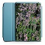 Apple iPad Mini 4 Smart Case hellblau Hülle Tasche mit Ständer Smart Cover Lavendel Flowers Blumen