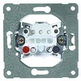 PEHA 00193511 Grundelement Taster mit Steckklemmen für alle Unterputz-Programme 10 A 250 V, 1-polig, Wechseltaster, als Öffner oder Schließer einzusetzen