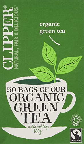 Clipper Fairtrade Organic Green 50 Teabags (Pack of 6, Total 300 Teabags)
