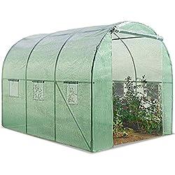 ProBache - Serre de jardin tunnel 6m² en acier galvanisé