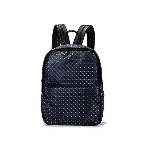 HYP einfachen Damen Tasche Handtasche Tasche Schultertasche Messenger Bag Doppel Schulter pack geometrische Argyle, Dunkelblau
