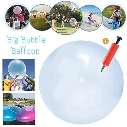 Ball,Inflatable Wasserball weicher,Aufblasbare Wasserball,Strand Bubble Ball,Für Strand Pool Party Supplies, Strand Spielzeug (Blau) ()