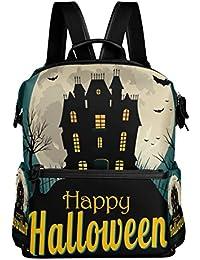 Preisvergleich für COOSUN Halloween Hintergrund Schule Rucksack-Spielraum-Rucksack Multi
