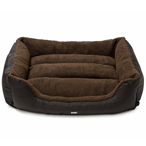 luxury-easy-clean-washable-dog-bed-medium-3-sizes-brown-snugpaws-rectangular-square-bolster-nest-pet