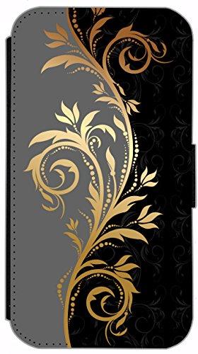 Flip Cover für Apple iPhone 6 / 6S (4,7 Zoll) Design 614 Totenkopf Skull Flammen Schwarz Hülle aus Kunst-Leder Handytasche Etui Schutzhülle Case Wallet Buchflip mit Bild (614) 623