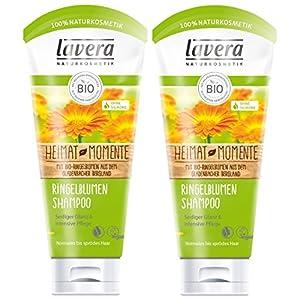 Lavera Shampoo per capelli con fiori di anello, setoso lucentezza e cura intensiva, vegano, shampoo per capelli biologico, naturale e innovativo, cosmetico naturale, confezione da 2 (2 x 200 ml)