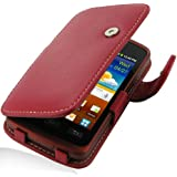 PDair Leather Case for Samsung Galaxy xCover GT-S5690 - Book Type (Red)