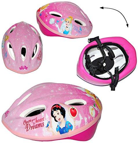 Unbekannt Kinderhelm - Disney Prinzessin - Gr. 52 - 56 - verstellbarer Helm - für Kinder Mädchen pink rosa Katze / Fahrradhelm Schutz - Arielle Belle Cinderella Princess