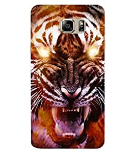 ColourCraft Roaring Tiger Design Back Case Cover for SAMSUNG GALAXY NOTE 7