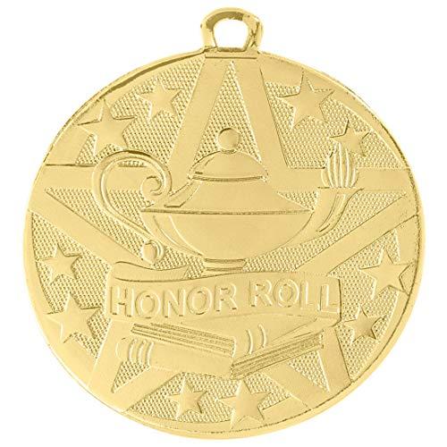 r Preis Medaille Trophäe mit Bändern 10er Pack Großes 5,08 cm Gold ()