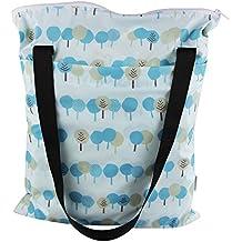 kakiblin viaje bebé en húmedo y seco bolsa de pañales, impermeable, desodorante (3piezas)
