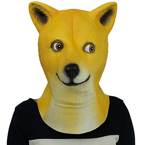 ull Neuheit Halloween-Kostüm Party Latex Tiermaske Hund Kopf Maske Halloween-Party-Kostüm (Katze Und Hund Paar Halloween Kostüme)