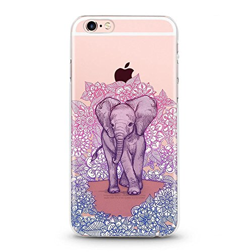 Panelize iPhone 6 Animal Hülle Schutzhülle Handyhülle Hard Case Cover Kratzfest Rutschfest Durchsichtig Klar (Cat) Elefant