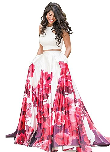 new collection 2018 Lehenga choli for women and girls (Rose-Lehenga_free-size_multi-colored) (Red)