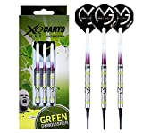 Michael Van Gerwen MVG Green Demolisher 18g - 70% Tungsten Darts (Soft Dartpfeile) mit Flights, Schäfte & Red Dragon Checkout Card