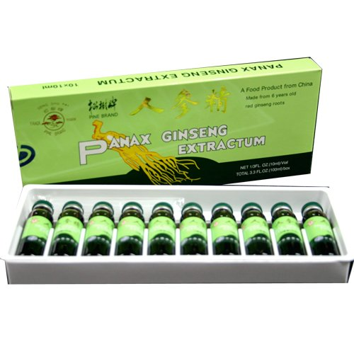 10er Sparpack (100x10ml Ampullen) Panax Ginseng Extrakt mit 17% Alkohol -