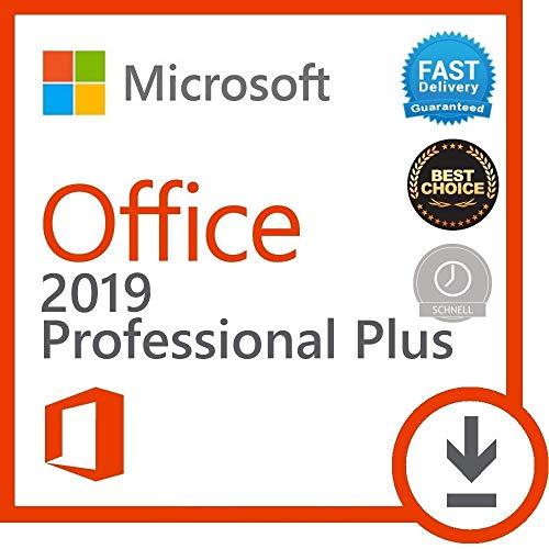 Microsoft Office 2019 Professional Plus pour 1PC ( seulement pour windows 10 ) Licence numérique originale Envoyé par E-mail