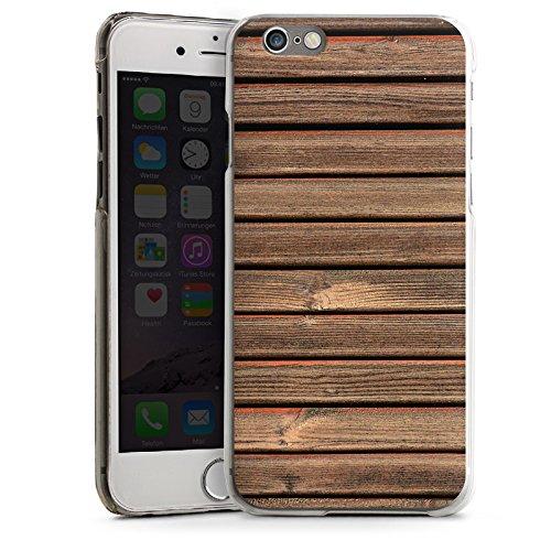 Apple iPhone 4 Housse Étui Silicone Coque Protection Look bois Lattes de bois Planches CasDur transparent