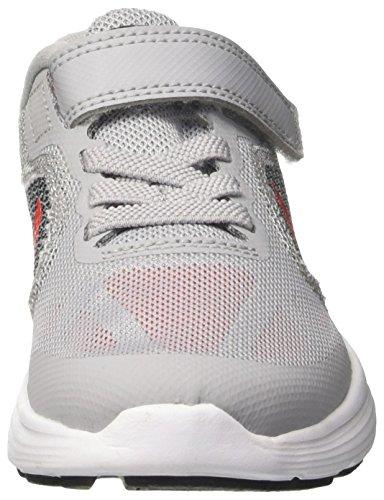 Nike Unisex-Kinder Revolution 3 Psv Laufschuhe Grau (Wolf Grey/max Orange/black/white)