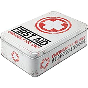 Nostalgic-Art 30704 Pharmacy First Aid Kit, Vorratsdose Flach